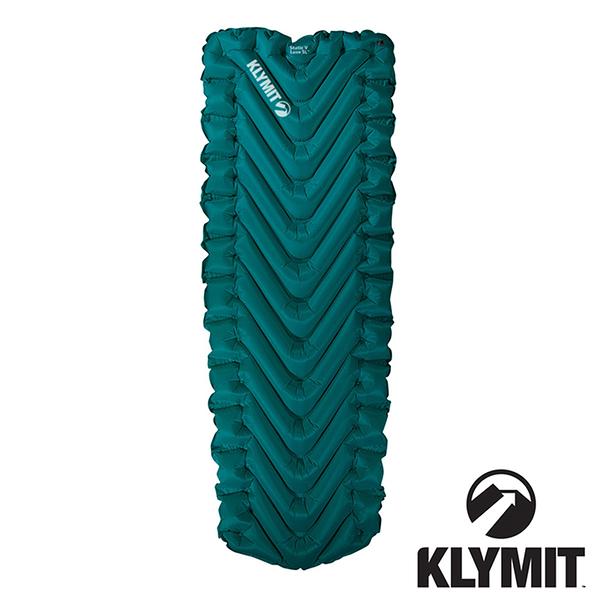 【美國Klymit】STATIC V Luxe SL全身睡墊『深青』198x68.6 保暖空氣睡墊 露營睡墊 充氣墊 06LLBL01D