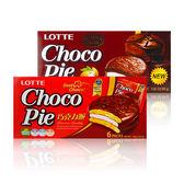 韓國 LOTTE 樂天 巧克力派/黑巧克力派 28gX6包/盒 ◆ 86小舖 ◆
