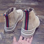 男士馬丁靴2018新款中幫馬丁靴男高幫鞋英倫風真皮百搭復古短靴韓版潮男靴子