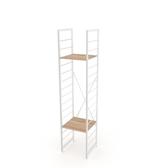(組)特力屋萊特二層架白框/淺木紋-40x40x188cm
