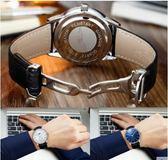 時尚商務防水皮帶男錶休閒石英錶男士簡約潮流手錶