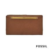 FOSSIL LIZA 輕巧型真皮零錢袋長夾-咖啡色 SL7891200