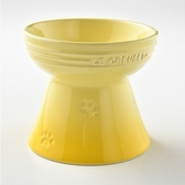 Le Creuset 寵物高腳碗 閃亮黃