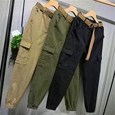 女褲2021新款春款新品束腳蘿卜褲寬鬆bf復古港風chic褲子女工裝褲 【3·8女王節】