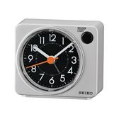 SEIKO鬧鐘 銀灰色滑動式秒針NV98