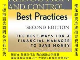 二手書博民逛書店Cost罕見Reduction And Control Best PracticesY256260 Insti
