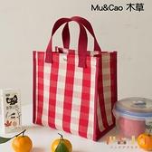 手提便當袋便攜上班學生防水防油大容量飯盒包【倪醬小鋪】