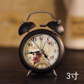 學生創意床頭時尚簡約靜音鬧鐘鬧錶臺鐘金屬