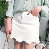 中大尺碼  牛仔口袋短裙(內襯安全褲)~共三色 - 適XL~4L《 Y0024 》CC-GIRL