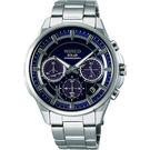 WIRED 東京玩家三眼計時手錶-藍/42mm VR42-0AA0D(AGAD070J)