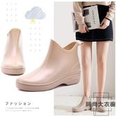 韓國可愛時尚款雨鞋女短筒水鞋雨靴成人大碼膠鞋【時尚大衣櫥】