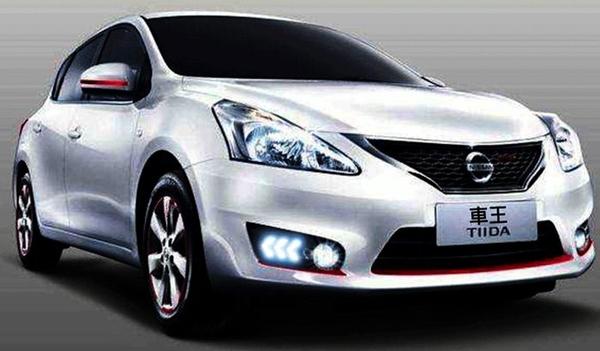 【車王汽車精品百貨】日產 Nissan Big Tiida 日行燈 晝行燈 霧燈改裝 行車守護 帶轉向