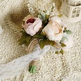 牡丹森系簡約新娘結婚手捧花球仿真花束婚禮裝飾外景旅拍道具 辛瑞拉