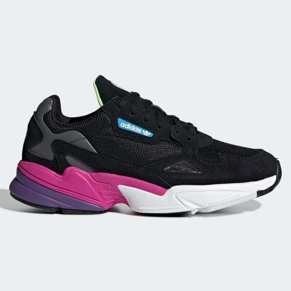 ADIDAS Falcon 女鞋 慢跑 休閒 老爹鞋 復古 黑 紫【運動世界】CG6219