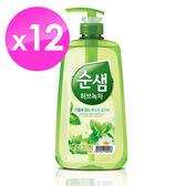 【韓國AK】全植物草本甘菊綠茶洗潔液 1KGX12入