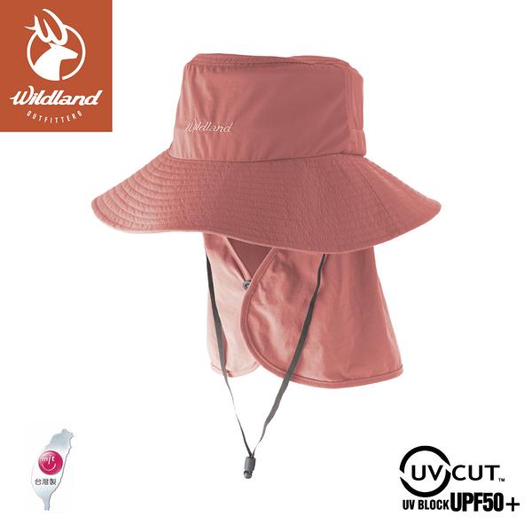 【Wildland 荒野 中性抗UV可脫式功能遮陽帽《紅星塵》】W1037/防曬帽/休閒帽/漁夫帽