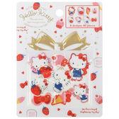 日本kitty貼紙行事曆貼裝飾貼草莓333495通販屋