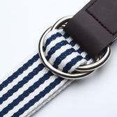 帆布腰帶女韓國雙環扣帆布皮帶女學生男青年