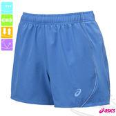 ASICS亞瑟士 LITE SHOW女慢跑褲(天藍) 路跑短褲 可拆卸式裡褲運動短褲 反光素材