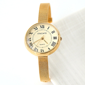 手錶 STACCATO金色細鋼索錶 柒彩年代【NEK23】正韓空運