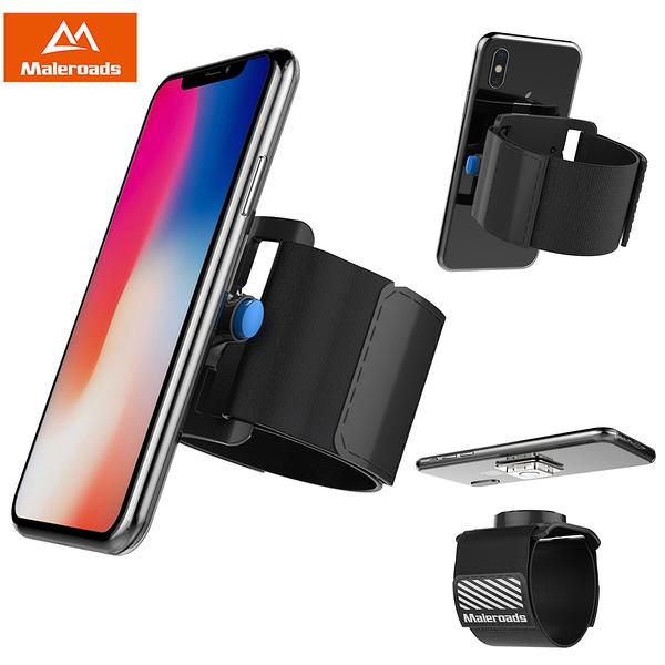 Maleroads 全新升級 一鍵快速拆裝 輕鬆拍照 Apple iPhone8 Plus iPhone7 Plus 運動臂帶 慢跑 臂包 附保護套