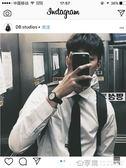 @韓國白襯衫男純色商務職業正裝學生西裝修身白襯衣男長袖ins風 享購