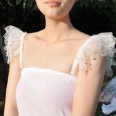 韓版甜美超大蕾絲雙肩帶釘珠性感內衣帶子露肩花邊文胸罩肩帶 DN7380【VIKI菈菈】