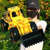 遙控鏟車玩具男孩推土機電動工程車模型超大號挖機兒童可充電禮物