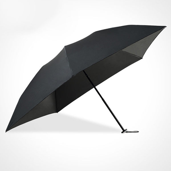 三折抗UV自動傘 (晴雨傘)『黑色』84943 輕