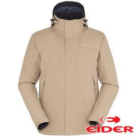 【法國EiDER】男 Gore-Tex 防水透氣保暖連帽外套 大地褐綠 EIV3300