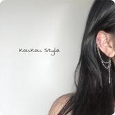 日韓個性街頭帥氣朋克少女流蘇鏈條長棍耳環【聚寶屋】