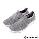 【AIRWALK】流線美學編織襪感休閒鞋-淺麻灰-女款-