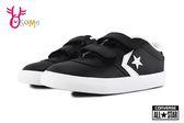 All STAR★Converse 寶寶 小童 低筒 皮革板鞋 休閒鞋 I9809#黑白◆OSOME奧森鞋業