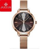 JULIUS 聚利時 星辰之戀米蘭錶帶腕錶-焦糖咖啡/30mm【JA-1128E】