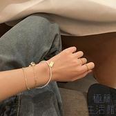 手鏈手鐲假三件珍珠學生愛心飾品簡約冷淡風氣質輕奢【極簡生活】