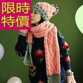 圍巾+毛帽+手套羊毛三件套-別緻時髦韓風溫暖女配件5色63n6[巴黎精品]
