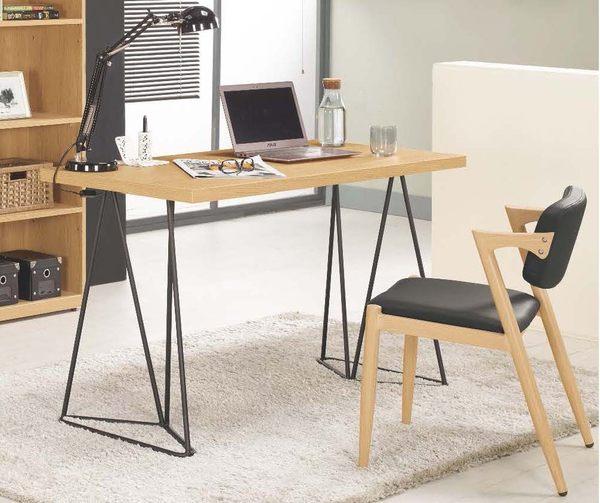 【森可家居】達拉斯4尺書桌 7CM374-5 (不含椅) 簡易工作桌 木紋質感 北歐工業風