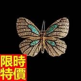 胸針 女配件-創意原創新秀個性氣質蝴蝶胸章2色65q47【巴黎精品】