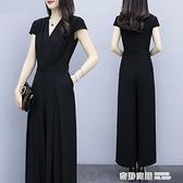 時尚顯瘦女裝新款潮收腰氣質闊腿褲套裝女大碼連身褲 奇妙商鋪
