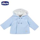 chicco-北極小熊-橫條絨舖棉連帽外套