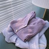 開衫溫柔短款V領針織開衫外套女上衣軟糯【繁星小鎮】