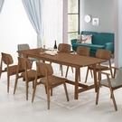 艾布納7.4尺胡桃餐桌(不含餐椅)(20...