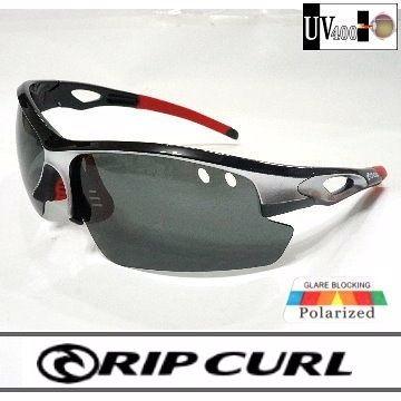 [Rip Curl] UF9424/黑銀/抗藍光抗UV保麗萊運動偏光鏡/騎車.戶外族專用