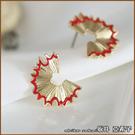 『坂井.亞希子』趣味創意造型紅色鉛筆屑耳環 -單一色系