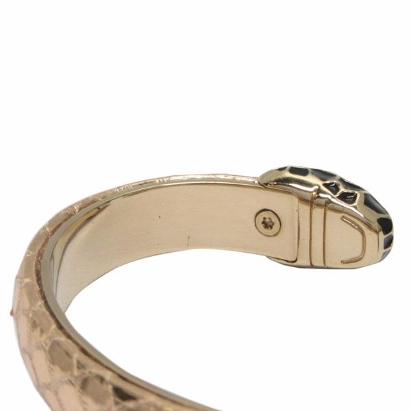 BVLGARI 寶格麗 金色蛇皮黑色蛇頭手環 Serpenti Forever【二手名牌 BRAND OFF】