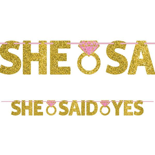 英文字串1入-She Said Yes