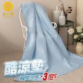 單人(3尺)90×186CM極凍酷涼墊(冰塊藍) 科技纖維速乾冰絲透氣不黏膩可機洗 【金大器】