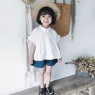 *╮小衣衫S13╭*女童夏季套裝娃娃款秀氣白上衣短褲套裝1080202