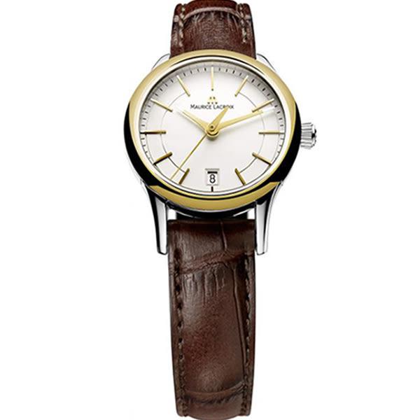 【僾瑪精品】Maurice Lacroix 艾美錶 簡約時尚金框女用腕錶-金/27mm-LC1113-PVY11-130