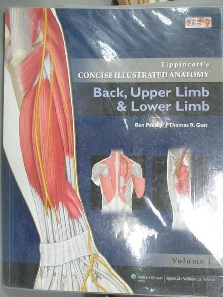 【書寶二手書T9/大學理工醫_FKY】Lippincott's Concise Illustrated Anatomy: